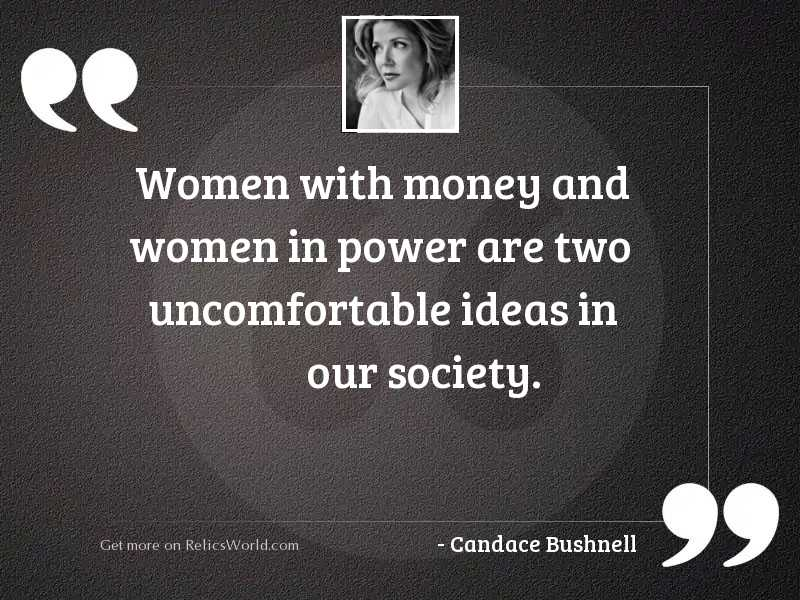 Women with money and women