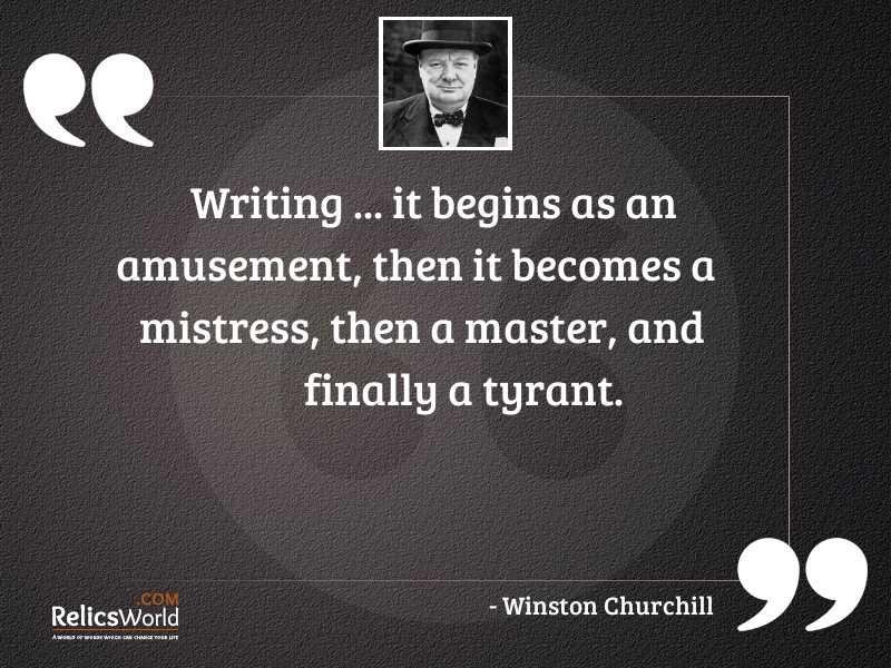 Writing  it begins as an