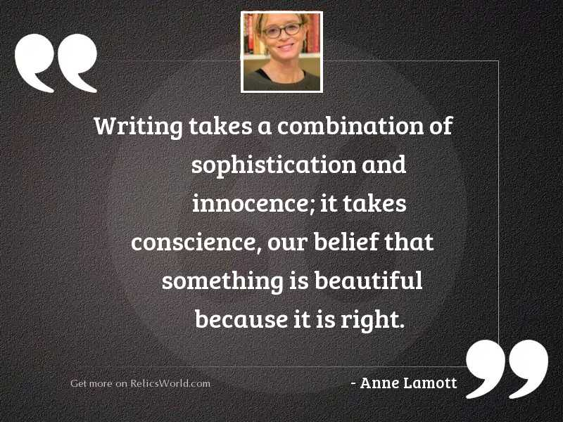 Writing takes a combination of