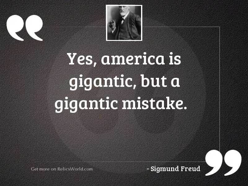 Yes, America is gigantic, but