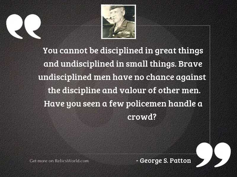 You cannot be disciplined in