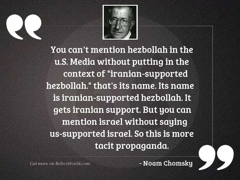You can't mention Hezbollah