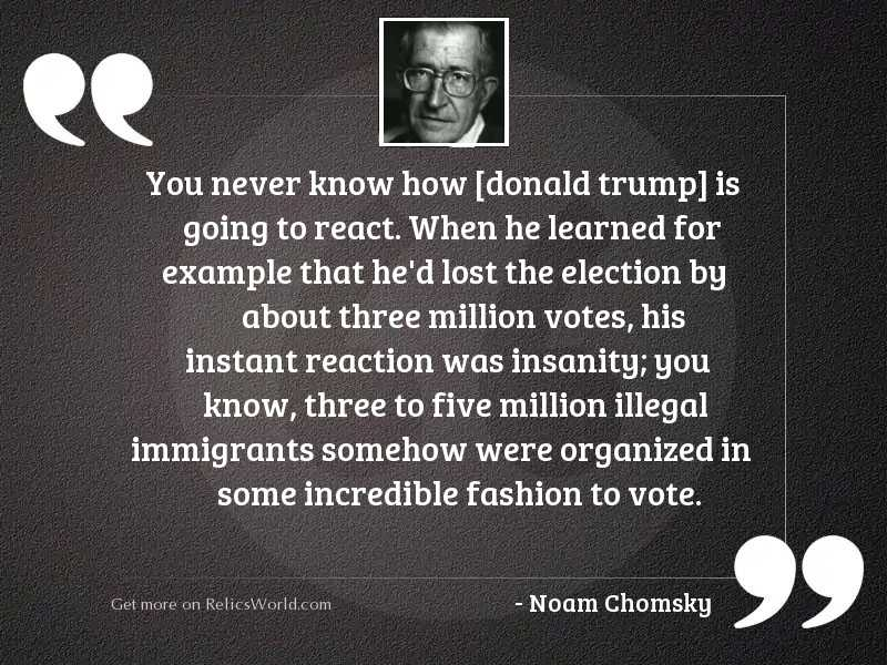 You never know how [Donald
