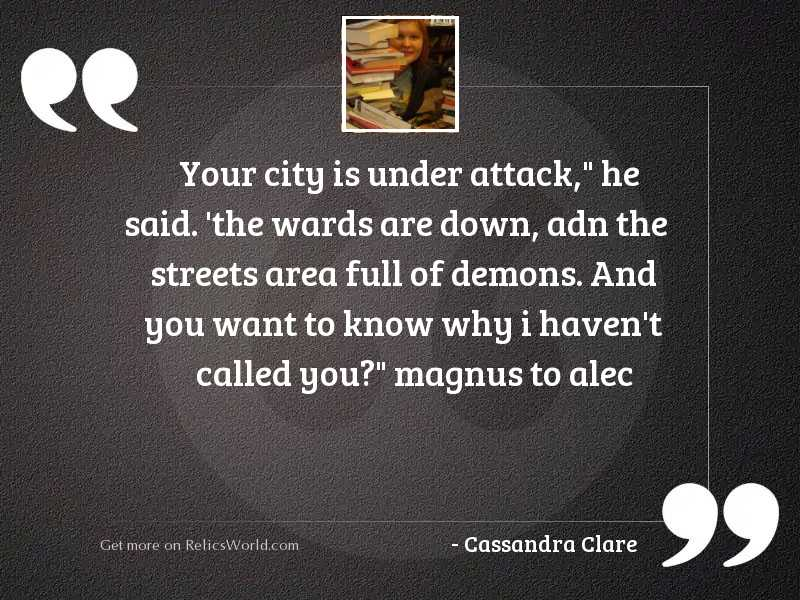 Your city is under attack
